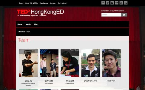 Screenshot of Team Page tedxed.hk - Team - TEDxHKED - captured Oct. 7, 2014