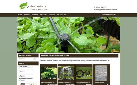 Screenshot of Home Page grogardenproducts.com - Garden Supplies | Buy Plant Stands | Gro Garden Products Ltd - captured Oct. 3, 2014