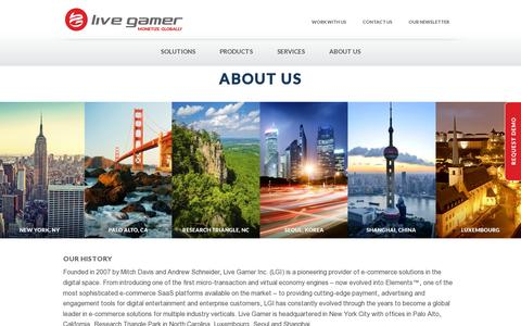Screenshot of About Page livegamer.com - About Us | Live Gamer - captured July 21, 2014