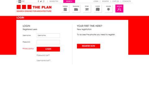 Screenshot of Login Page theplan.it - The Plan - captured Dec. 1, 2016