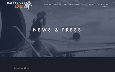 Screenshot of Press Page ballardselite.com - Press — Ballard's Elite - captured May 31, 2017