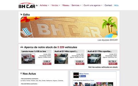 Screenshot of Home Page Services Page bhcar.fr - BHCar » Réseau National d'Agences Automobiles - captured Sept. 18, 2014