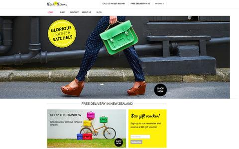 Screenshot of Home Page thickasthieves.co.nz - Leather Satchels NZ   Satchel Bags   Leather Bags NZ - captured Oct. 9, 2014