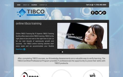 Screenshot of Home Page tibco-online-training.com - Tibco Online Training | Online Tibco Training Courses - captured Sept. 16, 2015