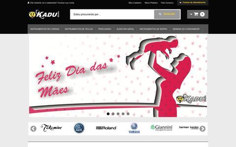 Screenshot of Home Page kadusom.com.br - O melhor para seu som!!! - captured May 6, 2017