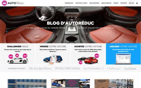 Screenshot of Blog autoreduc.com - Le blog d'Autoreduc |              Achat groupé de voitures neuves au meilleur prix - captured June 26, 2017