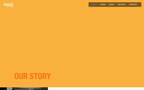 Screenshot of About Page makecollab.com - Story — MAKE Collaboration - captured Nov. 2, 2014