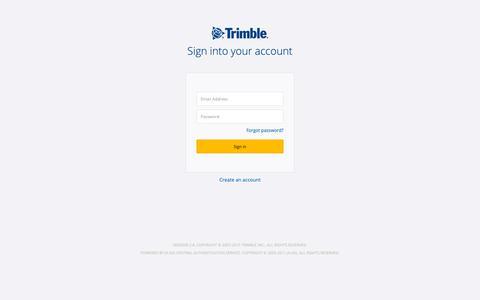 Screenshot of Login Page trimble.com - Trimble Inc. Central Authentication Service - captured June 19, 2019