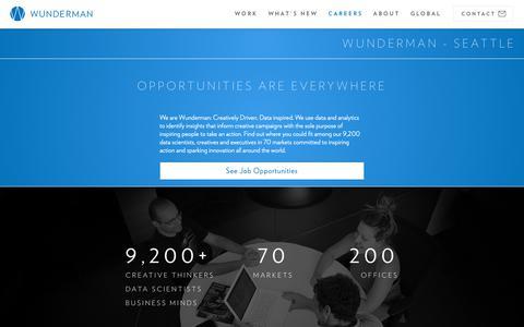 Screenshot of Jobs Page wunderman.com - Careers & Employment | Wunderman - captured Oct. 23, 2018