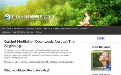 Screenshot of Home Page the-guided-meditation-site.com - The Guided Meditation Site - Meditation Downloads & Relaxing Music - captured Oct. 30, 2017