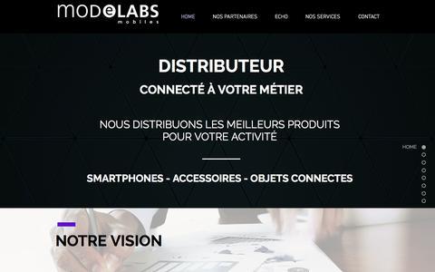 Screenshot of Home Page modelabs.com - Modelabs Mobiles | Grossiste Mobilité - captured Nov. 16, 2017