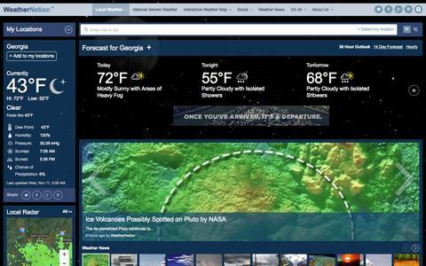 Screenshot of Home Page weathernationtv.com - Home | Weather Video, Weather, Forecasts | WeatherNation - captured Nov. 11, 2015