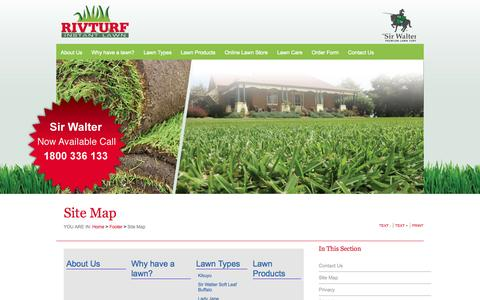 Screenshot of Site Map Page rivturf.com.au - Riv Turf - Quality Turf and Instant Lawn, Melbourne, Wagga Wagga | Site Map - captured Sept. 30, 2014