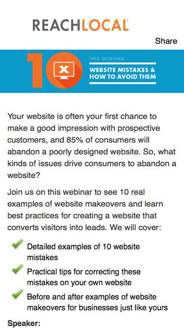 Free Webinar: 10 Website Mistakes & How to Fix Them
