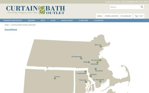 Screenshot of Locations Page curtainandbathoutlet.com - Curtain & Bath Store Locations  | Curtain & Bath Outlet - captured Sept. 23, 2018