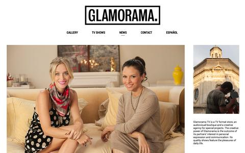 Screenshot of Press Page glamorama.tv - News — GLAMORAMA - captured Sept. 30, 2014