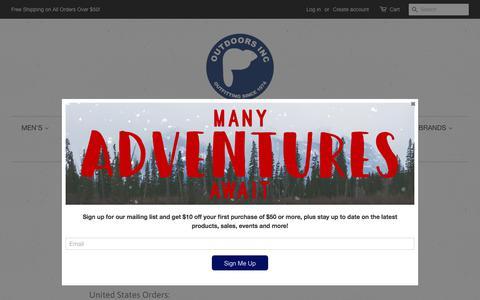 Screenshot of FAQ Page outdoorsinc.com - FAQ – OutdoorsInc.com - captured Sept. 21, 2018