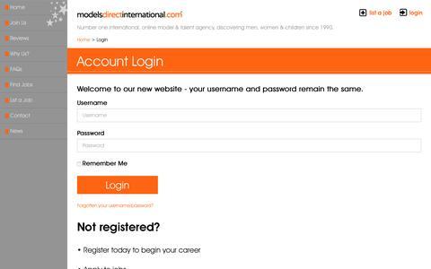 Screenshot of Login Page talentmanagement.com - Talent Management - Login Account - captured Sept. 12, 2016