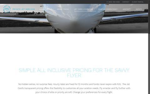 Screenshot of Pricing Page pjsgroup.com - Pricing - Private Jet Services | PJS Group - captured Dec. 31, 2016
