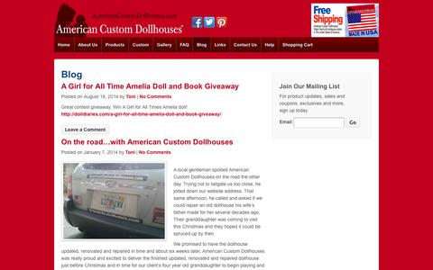 Screenshot of Blog americancustomdollhouses.com - Blog - American Custom Dollhouses™ - captured Oct. 4, 2014