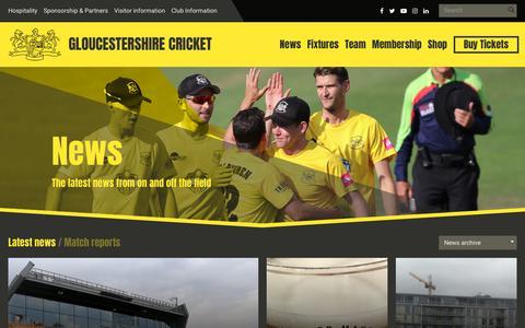 Screenshot of Press Page gloscricket.co.uk - News   Gloucestershire Cricket - captured Sept. 23, 2018