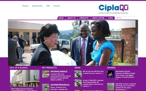 Screenshot of About Page qcil.co.ug - CIPLA Quality Chemicals Uganda Limited - captured Oct. 3, 2014