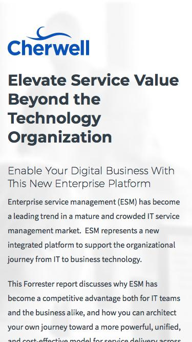 Elevate Service Value Beyond The Technology Organization