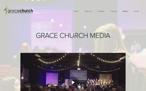 Screenshot of Press Page columbiagrace.org - Grace Church of the Nazarene | Media - captured July 7, 2017