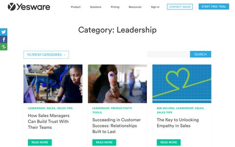 Screenshot of Team Page yesware.com - Leadership Archives | Yesware - captured July 12, 2019