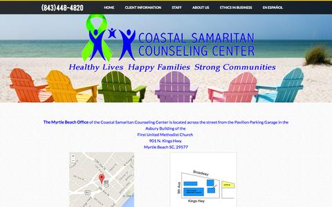 Screenshot of Maps & Directions Page coastalsamaritan.org - Maps - (843) 448-4820 - captured Oct. 3, 2014