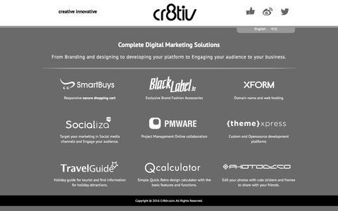 Screenshot of Press Page cr8tiv.com - Cr8tiv design development - Cr8tiv - captured July 22, 2018
