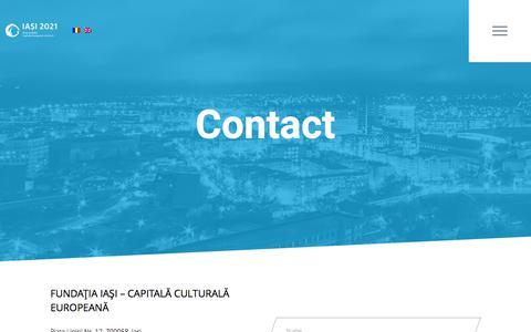 Screenshot of Contact Page iasi2021.ro - Contact  |  Iasi 2021 - captured Feb. 3, 2016