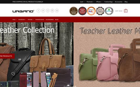Screenshot of Home Page urbanocases.com - Buy Best Laptop Cases For Macbook Pro At Online From Urbano Cases - captured Feb. 14, 2018