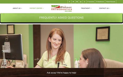 Screenshot of FAQ Page windermereorthodontics.com - Frequently Asked Questions | Windermere Orthodontics - Cumming, Suwanee, Brookhaven, Atlanta Georgia - captured Dec. 5, 2017