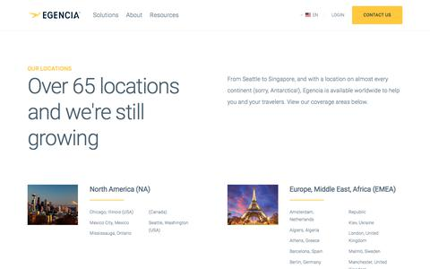 Screenshot of Locations Page egencia.com - Locations | Egencia - captured Feb. 19, 2018
