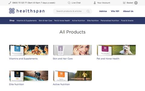 Product A-Z | Healthspan