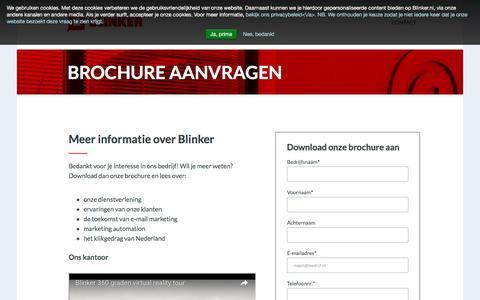 Brochure aanvragen | Blinker
