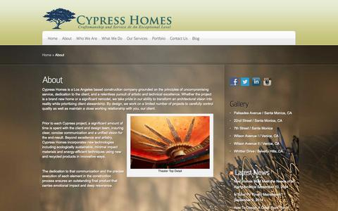 Screenshot of About Page cypressecohomes.com - About | Cypress Homes - captured Sept. 30, 2014