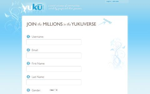Screenshot of Signup Page yuku.com - Join a Social Network on Yuku | Free forums, social networks, communities, chat rooms, Yuku is a universe of free social networking communities united by people and their passions. Create a free social networking forum instantly or join one of the th - captured June 17, 2016
