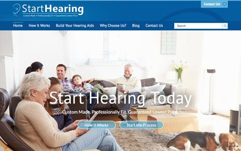 Screenshot of Home Page starthearing.com - Home - Start Hearing - captured Oct. 18, 2018