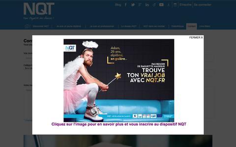 Screenshot of Contact Page nqt.fr - Association NQT - captured Nov. 21, 2016