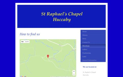Screenshot of Maps & Directions Page straphaelhuccaby.org - straphaelhuccaby.org - Directions - captured Feb. 28, 2017