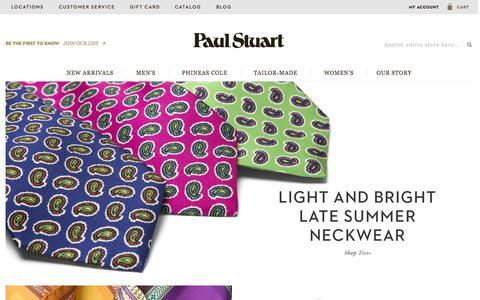 Screenshot of Home Page paulstuart.com - Paul Stuart - Fine Men's & Women's clothing - captured July 27, 2015