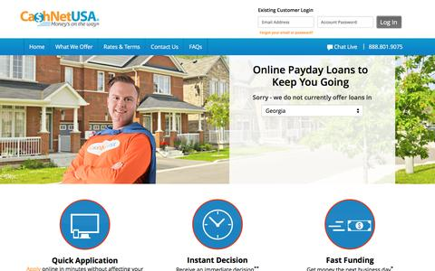 Payday Loans Online | Apply Now at CashNetUSA