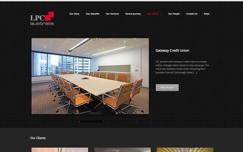 Screenshot of Case Studies Page lpc.com.au - Our Clients - LPC AustraliaLPC Australia - captured Oct. 1, 2014