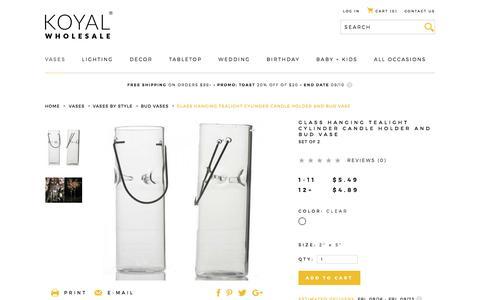 Glass Hanging Tealight Cylinder Candle Holder and Bud Vase
