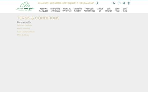 Screenshot of Terms Page countymarquees.co.uk - County Marquees - Terms & Conditions - captured Feb. 1, 2016