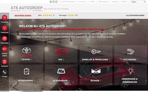 Screenshot of Home Page ats-autogroep.nl - ATS-Autogroep - Kia & Toyota dealer waar persoonlijke aandacht telt - captured Dec. 30, 2017