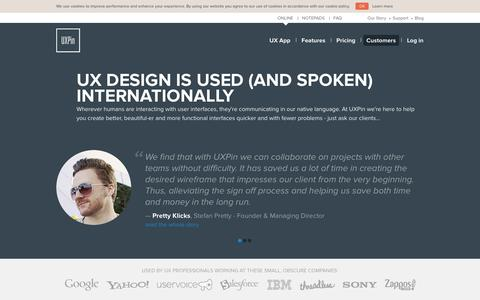 Screenshot of Testimonials Page uxpin.com - UX Designers Love UXPin's UX Design Tools: Read Their Reviews Here! - captured Sept. 17, 2014