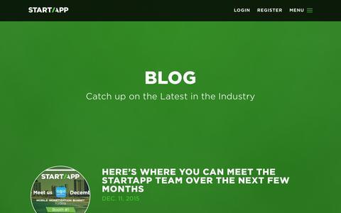 Screenshot of Blog startapp.com - Blog - captured Dec. 11, 2015